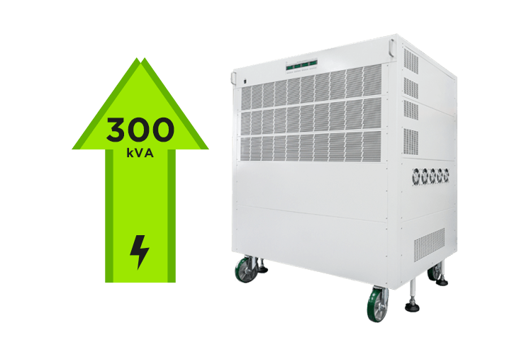 300kVA total power output