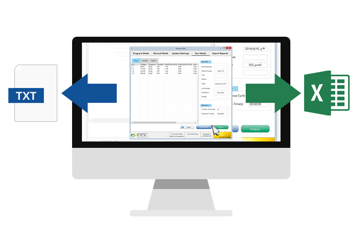 PowerTRAC Automatic Data Recording to Excel